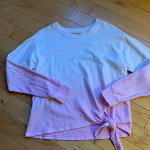 Anthropologie pink/white ombré Sweater size Small